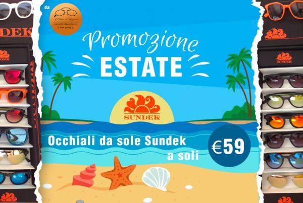 Promozione Estate da Ottico di Uggiate: tutti gli occhiali da sole Sundek a soli 59 euro
