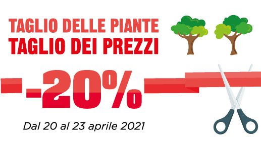 Taglio delle piante? No taglio dei prezzi!